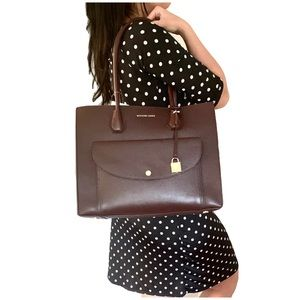 NWT authentic MK genuine leather large tote
